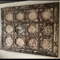 A big iron sheet panel of end 19th century