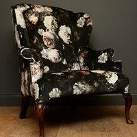 Queen Anne Wing Armchair