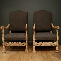 Bleached Walnut Armchairs