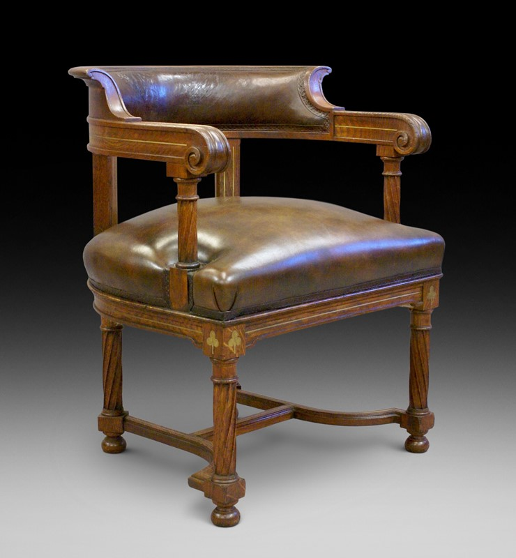 A rare bold 19th century brass inlaid arm chair-w-j-gravener-antiques-brass-inlaid-chair-main-637062162227722111.jpeg