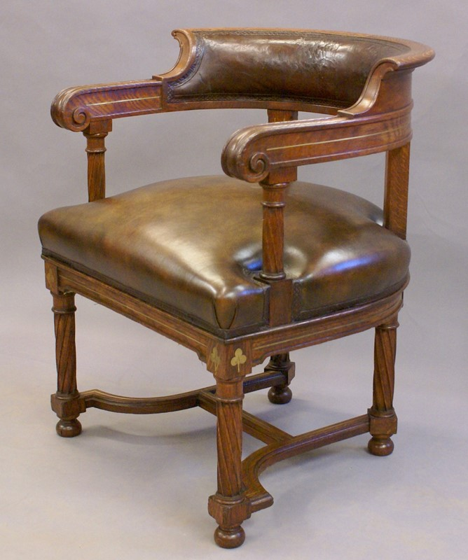 A rare bold 19th century brass inlaid arm chair-w-j-gravener-antiques-dsc03841-main-637062162560406361.jpg
