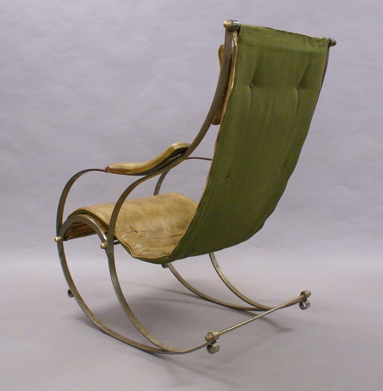A Steel and Leather Rocking Chair By R.W.Winfield.-w-j-gravener-antiques-dsc04635-main-637147803986255157.jpg