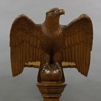 A superb carved eagle lectern