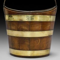 A superb quality mahogany & brass bucket