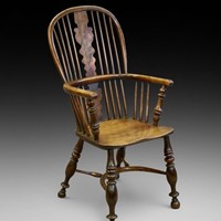An Early 19th Century Yew & Elm Windsor Arm Chair