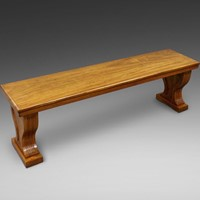 A very large gallery bench