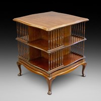 An Edwardian revolving bookcase