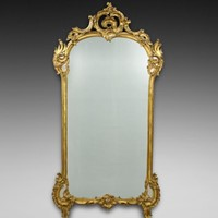 A very large 19thC gilt frame wall mirror