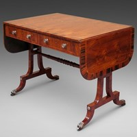 A rare Kingwood Regency sofa table