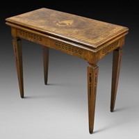 A rare 18th century Italian inlaid games table