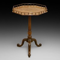 A George III mahogany gallery top tripod table