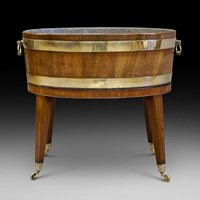 A George III oval wine cooler