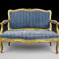 19th C French carved and  gilded sofa