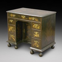 A very rare Queen Anne kneehole desk