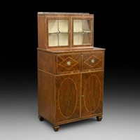 A rare & diminutive Georgian secretaire bookcase
