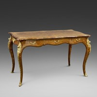 An English ormolu mounted bureau plat