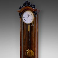 A Viennese regulator wall clock