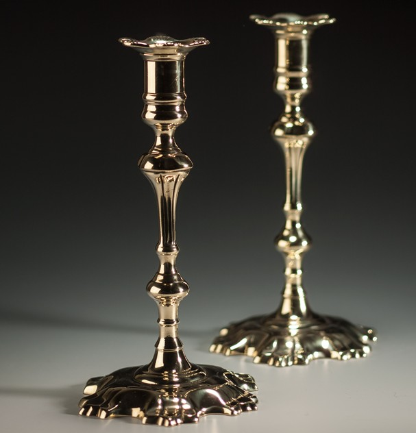 A Pair of George II Shell-Based Brass Candlesticks-walpoles-2318b_main_635964202615939862.jpg