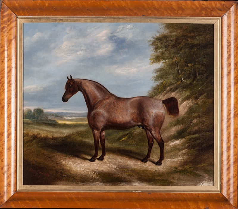 Horse in a Landscape by 'James Clark Sen. 1895.'-walpoles-2390-main-636661507577357671.jpg