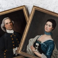 A Rare Pair of Large Georgian Portraits
