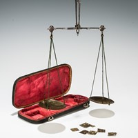 Shagreen Cased Coin Scales