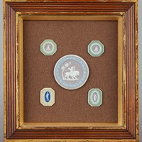 A Collection of Wedgwood Tri-Colour Plaques