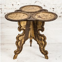 A Finely Carved and Gilded Western India Table