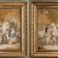 An Exceptional Pair of Silkwork Pictures