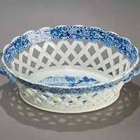 Pearlware  Reticulated Chestnut Basket