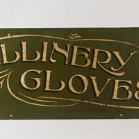 Edwardian Haberdasher's Shop Sign