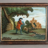 Pheasant Shooting; Glass Picture After Morland