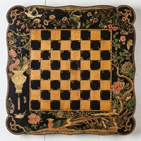 An Exceptional Chinoiserie Penwork Chess Table