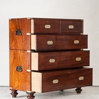 A Fine Military Campaign Chest of Drawers
