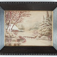 Meiji Period Embroidered Silk Picture