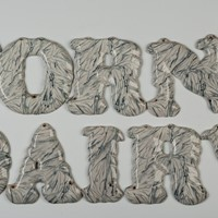 Horn's Dairy Ceramic Letters, 8 inches High