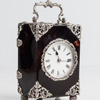 Silver & Tortoiseshell Carriage Clock