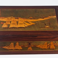 Marquetry Trinity House Box