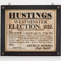 Hustings Notice For Westminster Election 1812