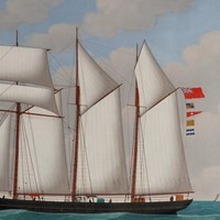 Schooner Sarah Lightfoot in Full Sail