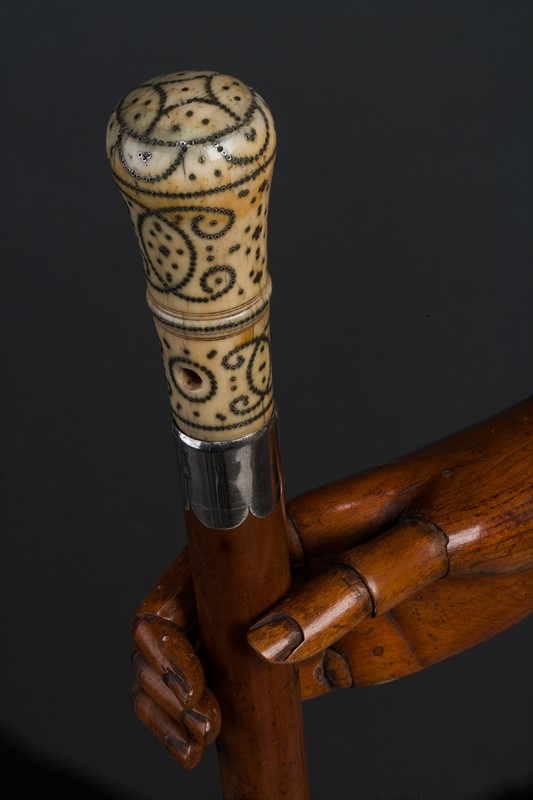 Walking Cane With Ivory & Piqué-Work Handle-walpoles-4281e-main-637458782280825513.jpg