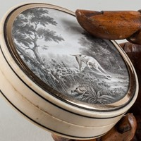 Fine Ivory Box Painted by Le Loup