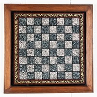 Reverse Painted Glass Chessboard