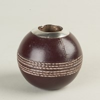 Doulton Silicone Silver Mounted 'Cricket Ball'