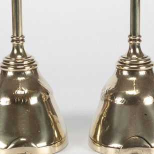 A Pair of Brass Victorian Horse Hoof Doorstops