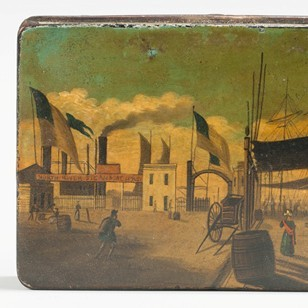 North River Steamboat Snuffbox