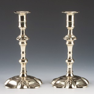 George II Petal-Based Candlesticks