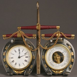 Equestrian Clock and Barometer