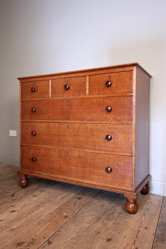 19th C. Gillows Golden Oak Chest of Drawers-william-james-antiques-003-main-636735695507757676.JPG