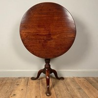 18th Century Mahogany Bird Cage Tripod Table