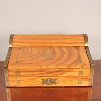 19th C Anglo Indian Campaign Writing Box